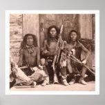 Indios de Spokane, 1861 (foto de b/w) Impresiones