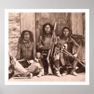 Indios de Spokane, 1861 (foto de b/w) Póster