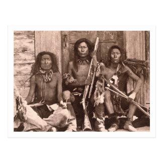 Indios de Spokane, 1861 (foto de b/w) Tarjetas Postales