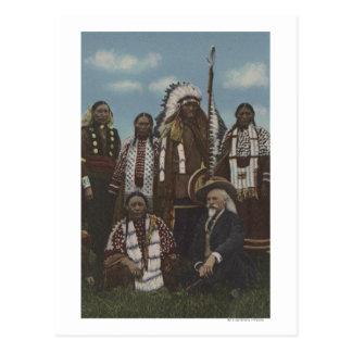 Indios del noroeste - Buffalo Bill, sentada Bull Tarjeta Postal