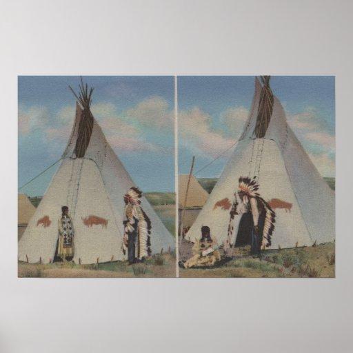 Indios del noroeste - llamada del amor del jefe y  póster
