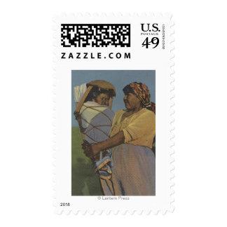 Indios del noroeste - mujer india sello