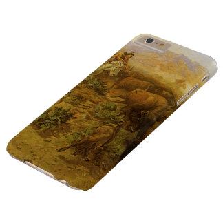 Indios del vintage, caza del búfalo por cm Russell Funda Barely There iPhone 6 Plus