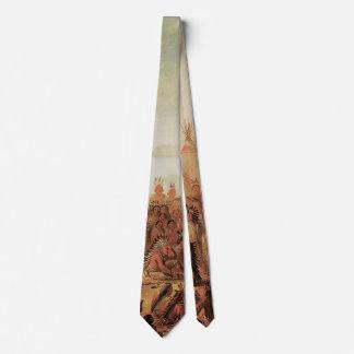 Indios del vintage, consejo de la guerra de Siux Corbata Personalizada