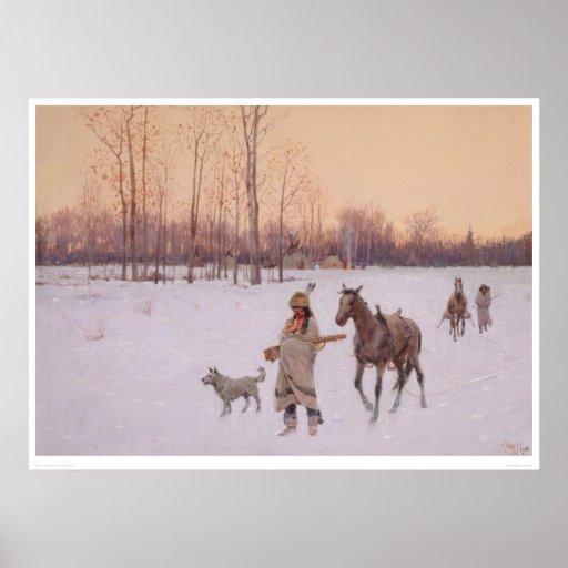 Indios en la nieve (0565A) Impresiones