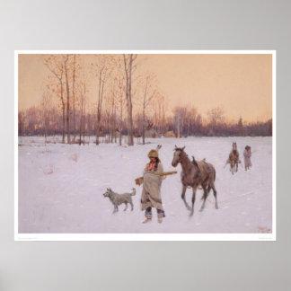 Indios en la nieve (0565A) Póster
