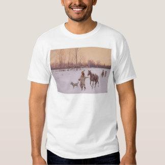 Indios en la nieve (0565A) Remera