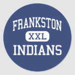 Indios Frankston medio Tejas de Frankston Pegatinas Redondas