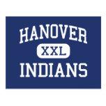 Indios Hannover media Massachusetts de Hannover Tarjetas Postales