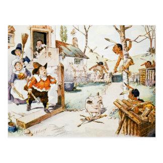 Indios holandeses de la familia y del nativo tarjetas postales