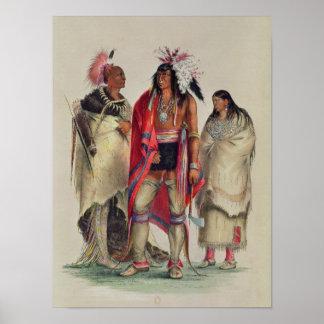 Indios norteamericanos, c.1832 poster