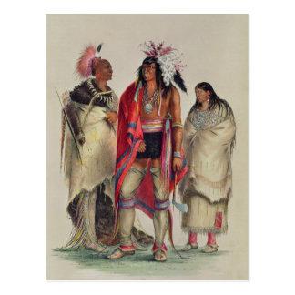 Indios norteamericanos c 1832 postal