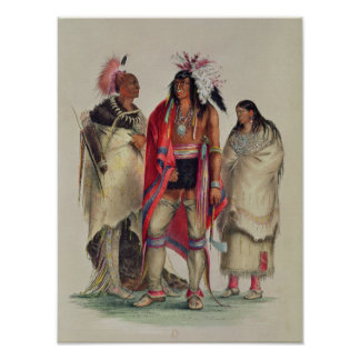 Indios norteamericanos c 1832 poster