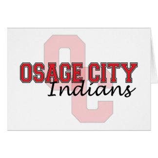 Indios OC de la ciudad de Osage Tarjeta De Felicitación