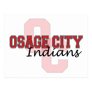 Indios OC de la ciudad de Osage Tarjetas Postales
