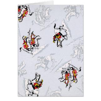 Indios retros a caballo tarjeta pequeña