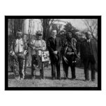 Indios y presidente Coolidge 1925 de Osage Impresiones