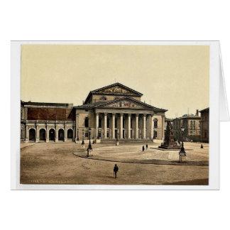 Indique el teatro, foto rara de Munich, Baviera, A Felicitacion