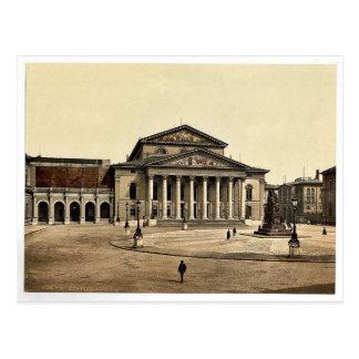 Indique el teatro, foto rara de Munich, Baviera, A Postales