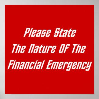 Indique por favor la naturaleza de la emergencia f posters