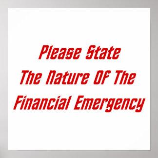 Indique por favor la naturaleza de la emergencia f impresiones