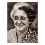 Indira Gandhi Portrait Poster