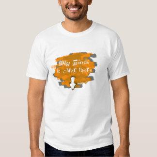 Indirect down link orange shirt
