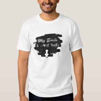 Indirect link down black and grey t shirt