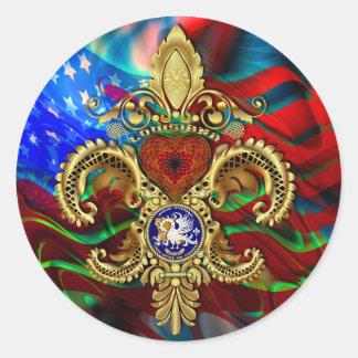 Indirecta bicentenaria de la opinión del carnaval pegatina redonda