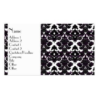 Indirecta clásica del damasco de la violeta tarjetas de visita
