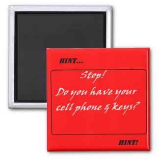 ¡Indirecta de la indirecta! No olvide el teléfono  Imán Para Frigorífico