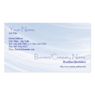 Indirecta de la tarjeta de visita azul
