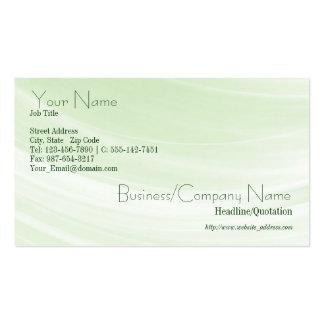 Indirecta de la tarjeta de visita verde