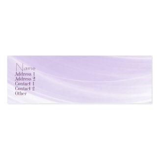Indirecta de la tarjeta del contacto de la lavanda tarjetas de visita mini