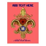 Indirectas bicentenarias de Luisiana Flor de lis Tarjetas Postales
