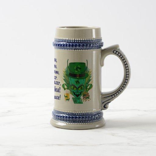 Indirectas de la opinión de los estilos de San Pat Tazas De Café