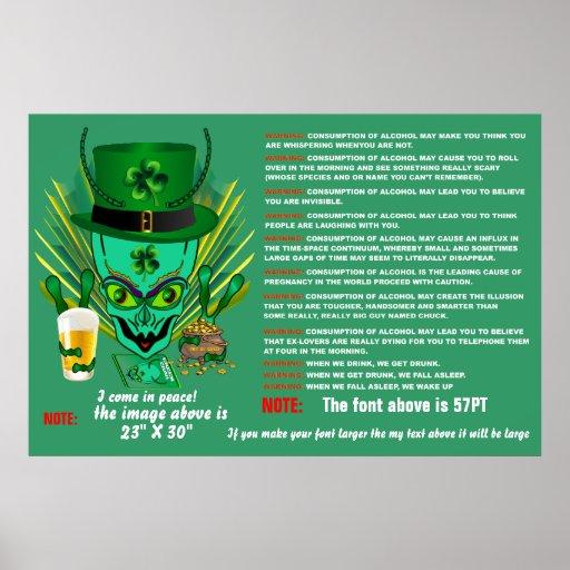 Indirectas de la opinión de los tamaños de San Pat Poster