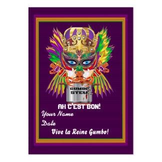 Indirectas de la opinión del tiro del carnaval de tarjetas de visita grandes