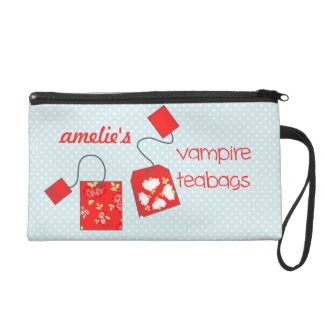 Indiscreet Vampire Teabags Pouch for Tampons Wristlet Purse