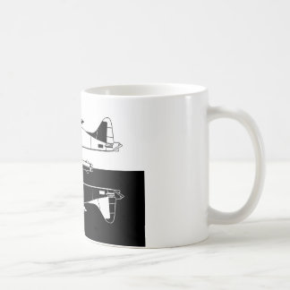 Indiscrete Seaplane Negative Combo Mirror Coffee Mug