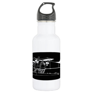 Indiscrete Seaplane Negative Oval Border Water Bottle