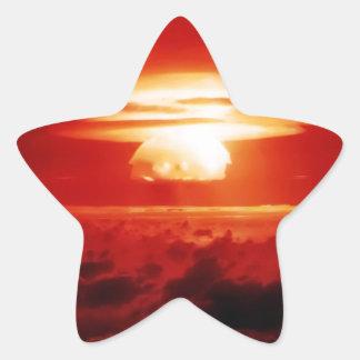 Indistinguible de mal pegatina en forma de estrella