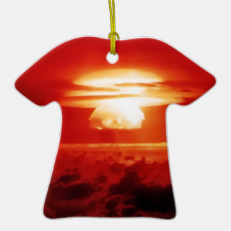 Indistinguishable from Evil Double-Sided T-Shirt Ceramic Christmas Ornament