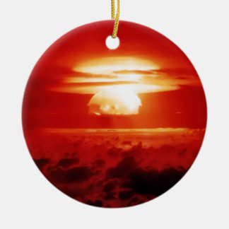 Indistinguishable from Evil Double-Sided Ceramic Round Christmas Ornament