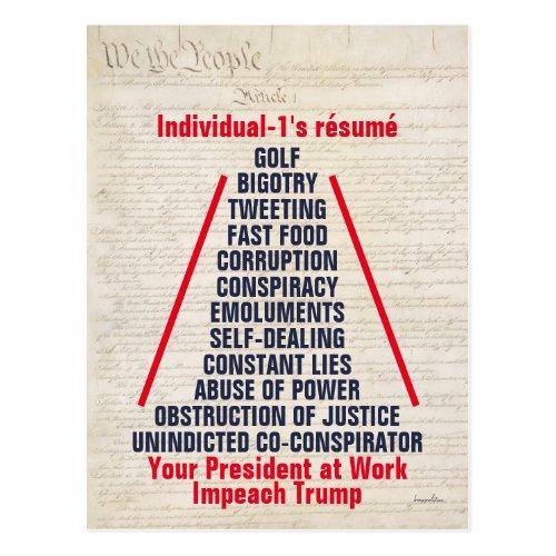 Individual_1 Trump Obstruction Lies April 2019 Postcard