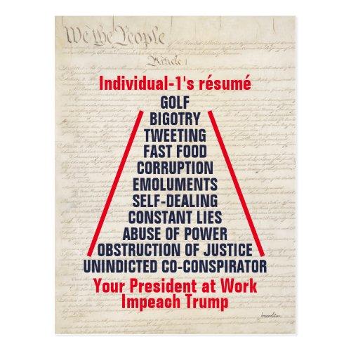 Individual_1 Trump Obstruction Lies May 2019 Postcard