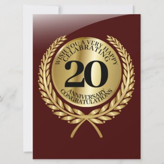 Individual congratulations card on the anniversary