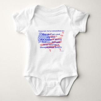 Individual Democratic Commandment #10 Baby Bodysuit