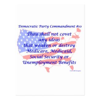 Individual Democratic Commandment #10 Postcard