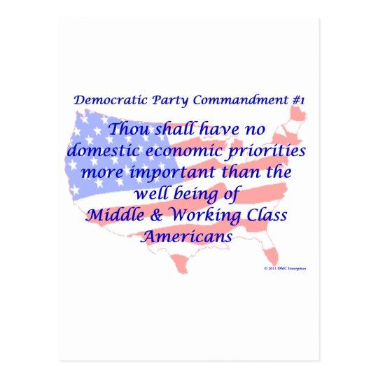 Individual Democratic Commandment #1 Postcard